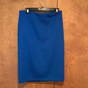 Vince Camuto blue neoprene pencil skirt Sz M